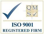 ISO 9001 registered firm logo