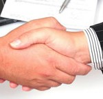 shaking hands on another security systems deal